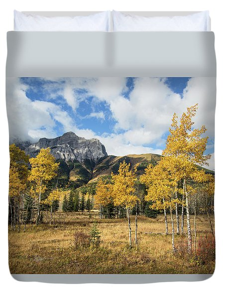 Fall In Kananaskis Duvet Cover
