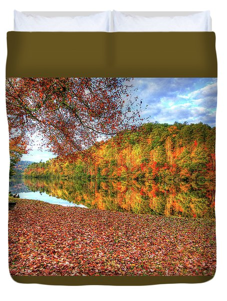 Fall In Murphy, North Carolina Duvet Cover