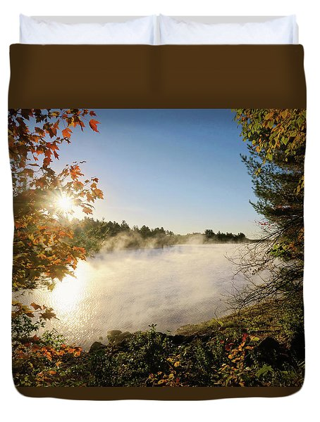 Fall In New England Duvet Cover