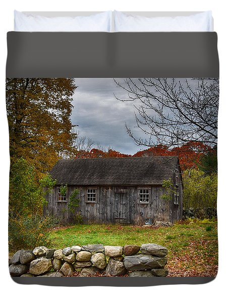 Fall In New England Duvet Cover by Tricia Marchlik