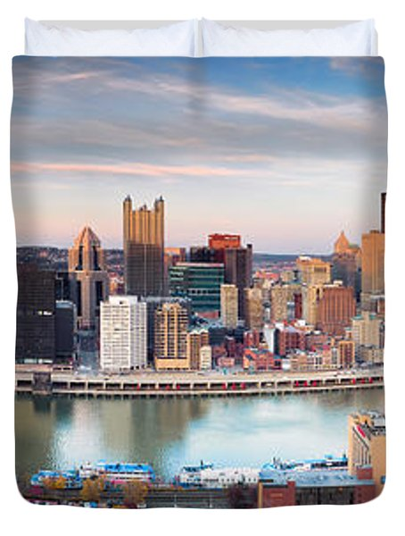 Fall In Pittsburgh  Duvet Cover