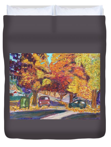 Fall In Santa Clara Duvet Cover by Carolyn Donnell