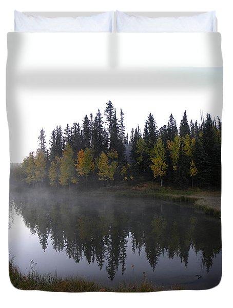 Kiddie Pond Fall Colors Divide Co Duvet Cover