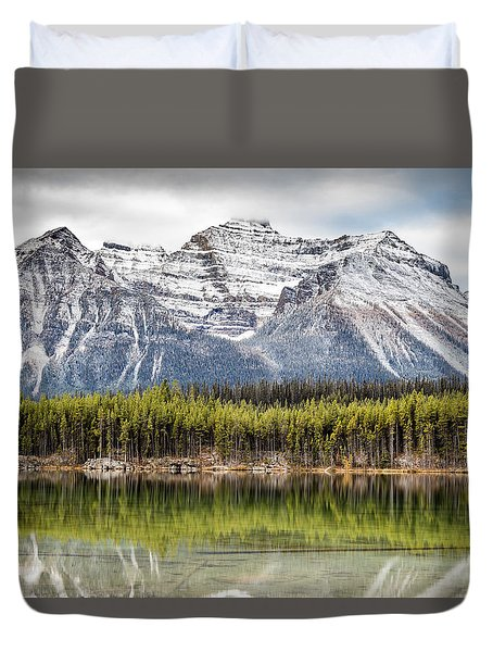 Fall In The Canadian Rockies Duvet Cover