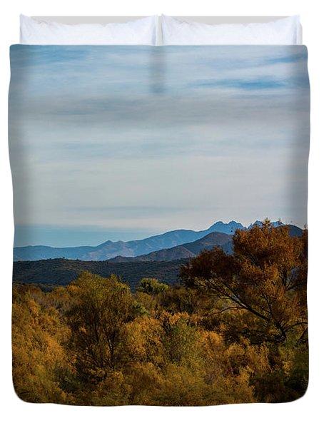 Fall In The Desert Duvet Cover