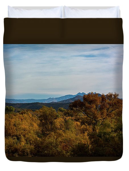 Fall In The Desert Duvet Cover