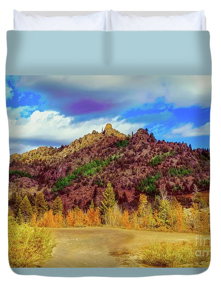 Duvet Cover featuring the photograph Fall In The Oregon Owyhee Canyonlands  by Robert Bales
