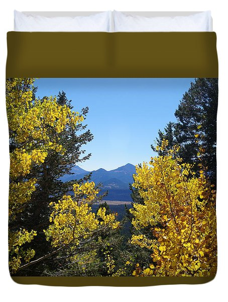 Fall In The Rockies Duvet Cover