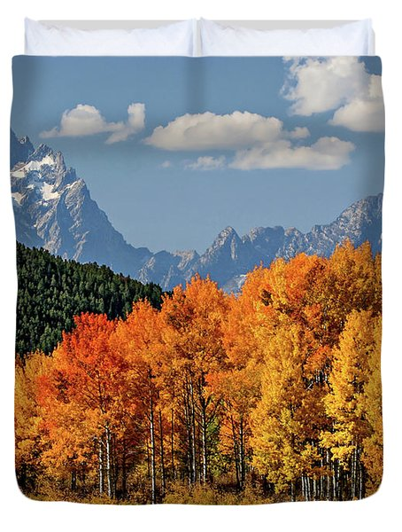 Fall In The Tetons Duvet Cover