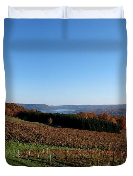 Fall In The Vineyards Duvet Cover