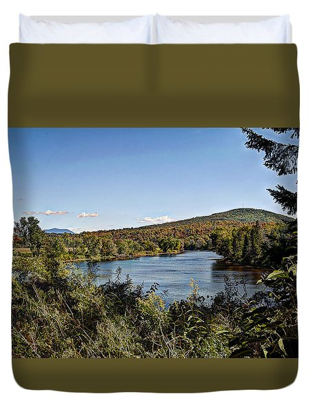 Fall In The White Mountains Duvet Cover by Deborah Klubertanz