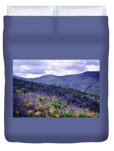Fall In The White Mountains Duvet Cover