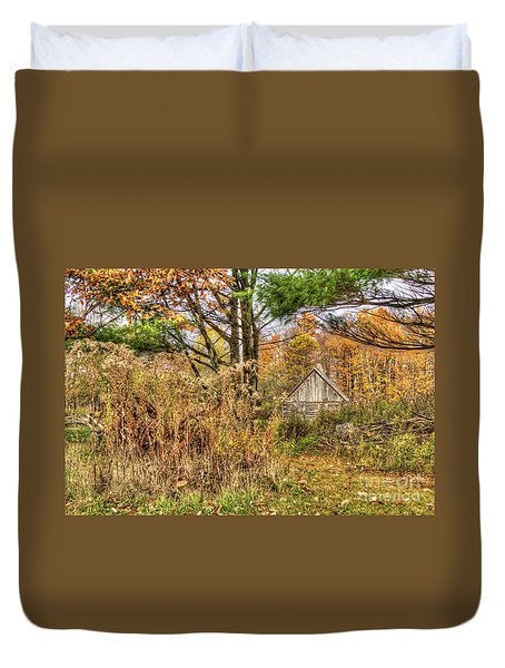 Fall In The Woods Duvet Cover