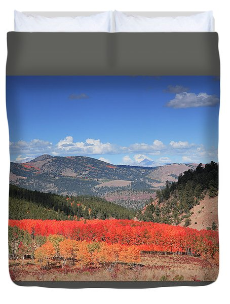 Fall In  Ute Trail  Duvet Cover
