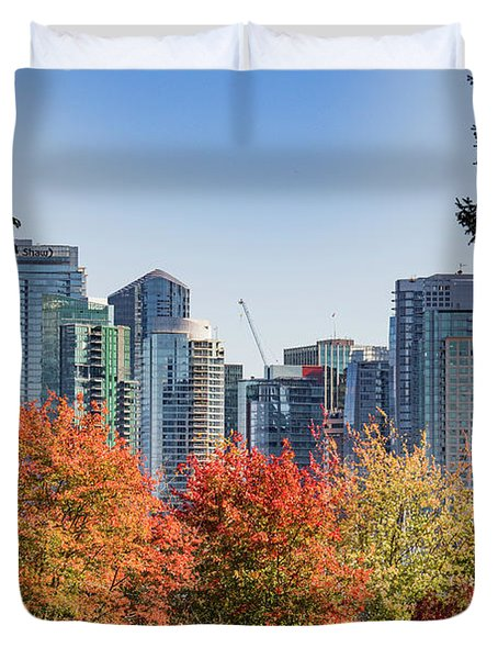 Fall In Vancouver Duvet Cover