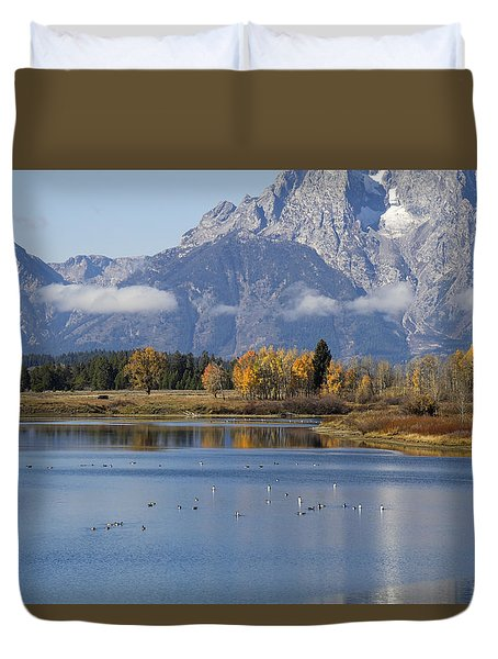 Duvet Cover featuring the photograph Fall Inteton -3 by Shirley Mitchell