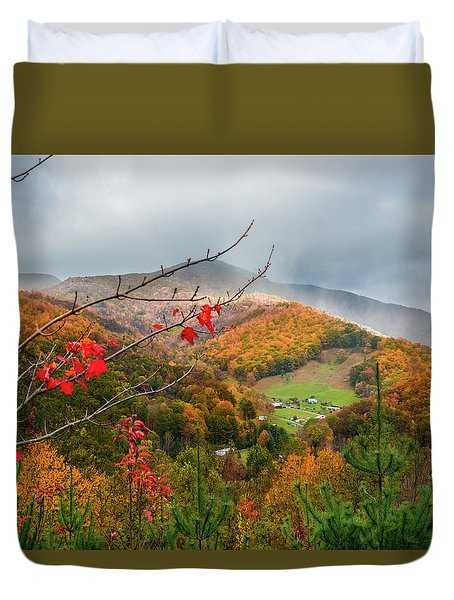 Fall Landscape Duvet Cover
