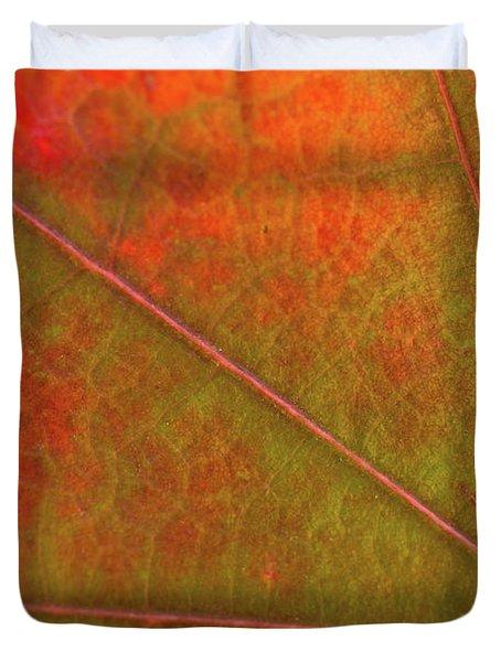 Fall Leaf Jewel Duvet Cover