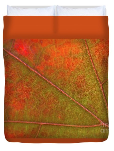 Fall Leaf Jewel Duvet Cover