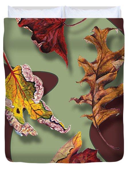 Fall Leaves Card Duvet Cover