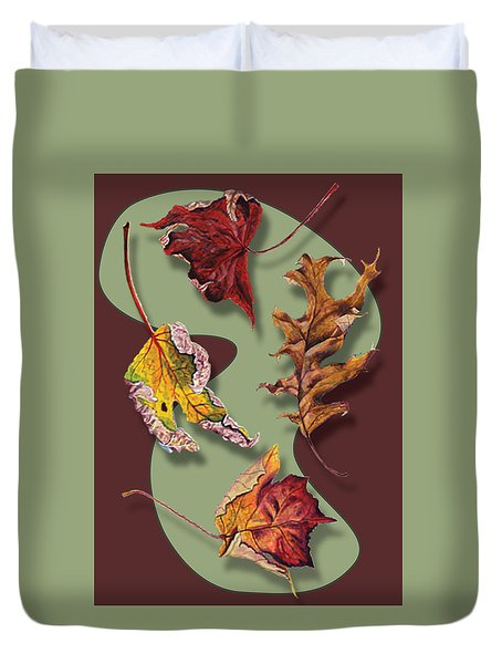 Fall Leaves Card Duvet Cover