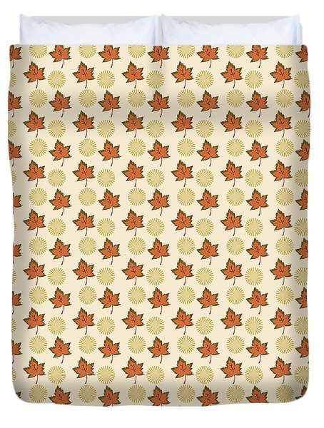Fall Leaves Light Pattern Duvet Cover