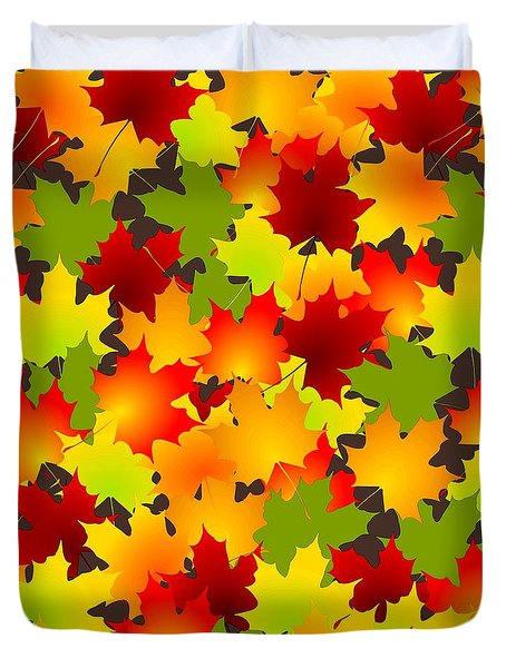 Fall Leaves Quilt Duvet Cover by Anastasiya Malakhova