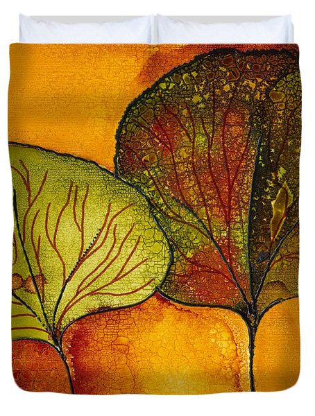 Fall Leaves  Duvet Cover by Susan Kubes