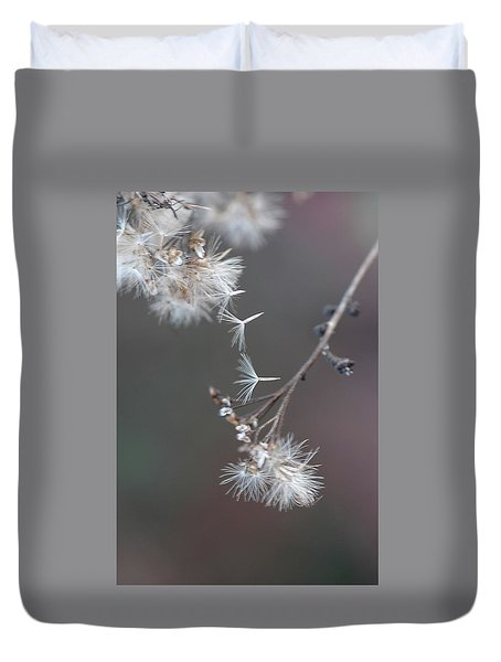 Duvet Cover featuring the photograph Fall - Macro by Jeff Burgess