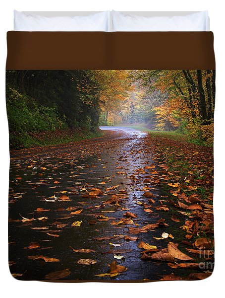 Fall Morning, Great Smoky Mountains National Park Duvet Cover