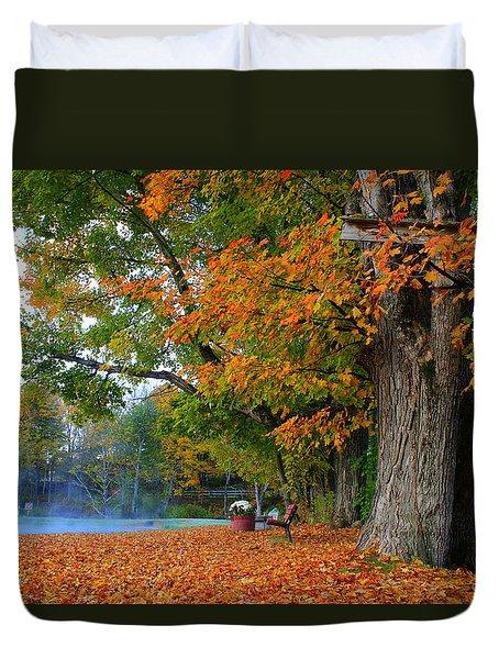Fall Morning In Jackson Duvet Cover