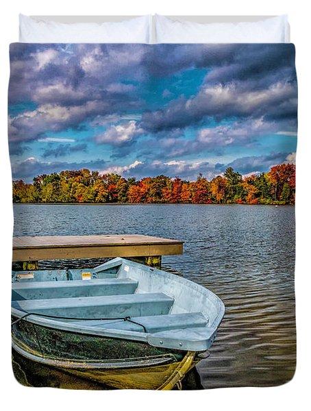 Fall On Alloway Lake Duvet Cover