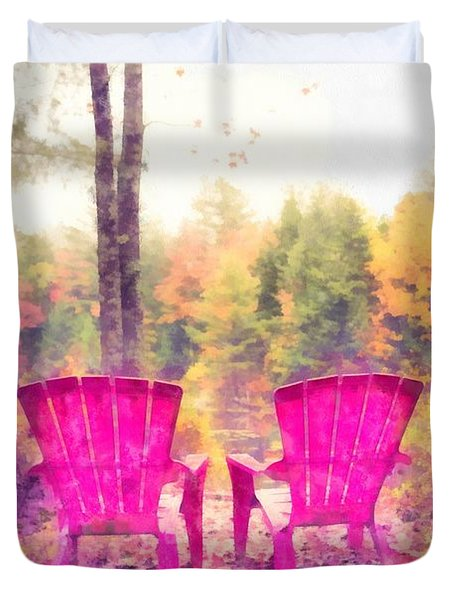 Fall On Anderson Pond Eastman Grantham New Hampshire Duvet Cover