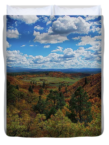 Fall On Four Mile Road Duvet Cover