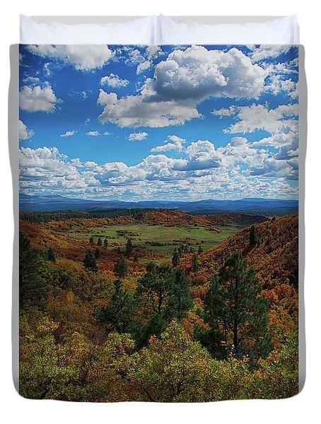 Fall On Four Mile Road Duvet Cover
