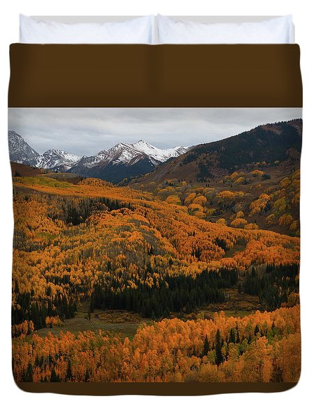 Fall On Full Display At Capitol Creek In Colorado Duvet Cover