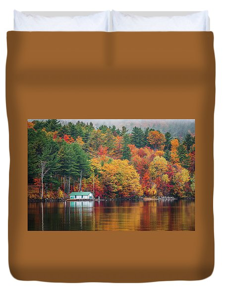 Fall On Lake Winnipesaukee Duvet Cover