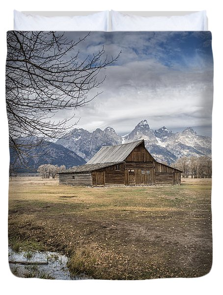 Duvet Cover featuring the photograph Fall On Mormon Row - Grand Teton National Park by Sandra Bronstein