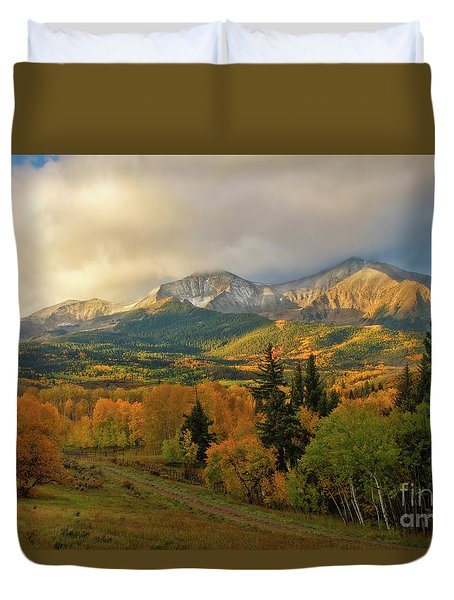 Fall On Mt Sopris  Duvet Cover