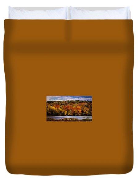 Fall On Springfield Lake Duvet Cover