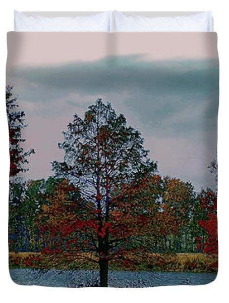 Fall On The Farm Duvet Cover