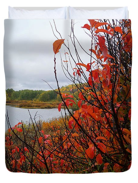 Fall On The Lake Duvet Cover