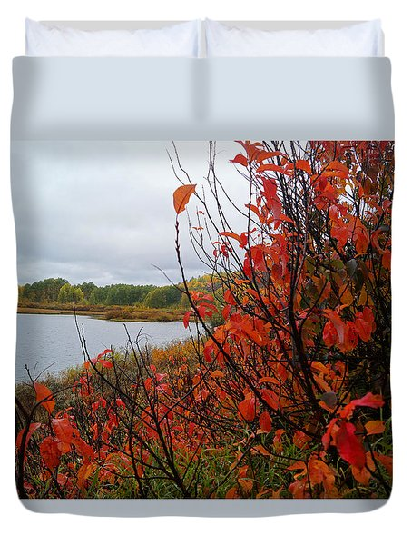 Fall On The Lake Duvet Cover