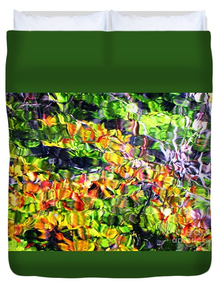 Fall On The Pond Duvet Cover