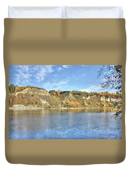Fall On The River Duvet Cover