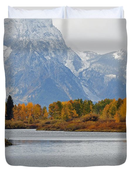 Fall On The Snake River In The Grand Tetons Duvet Cover