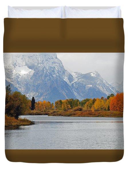 Fall On The Snake River In The Grand Tetons Duvet Cover