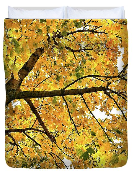 Fall On William Street Duvet Cover