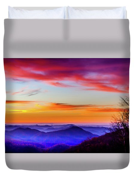 Duvet Cover featuring the photograph Fall On Your Knees by Karen Wiles