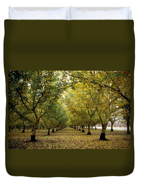Fall Orchard Duvet Cover by Kathy Yates